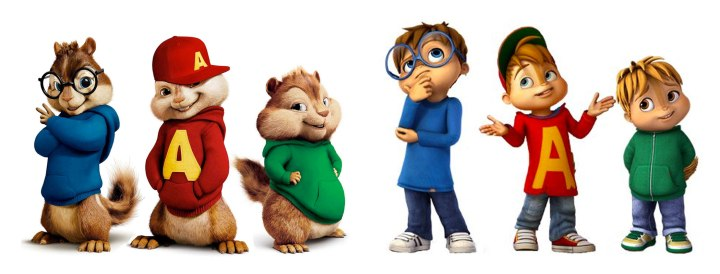 Chipmunks/White Kids with Tails